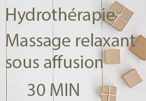 Massage relaxant sous affusion 30 min